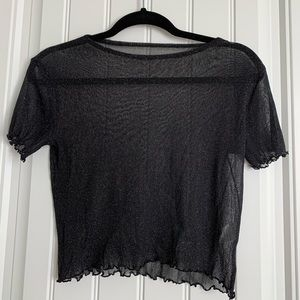 Brandy Melville mesh sparkle top